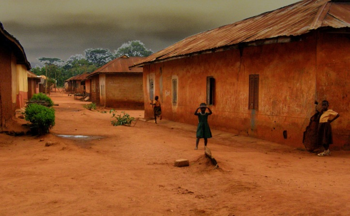 A town in the countryside in Ghana