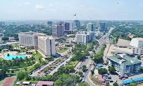 Probably the nicest picture of Accra. Accra has been the national capital of Ghana since independence.